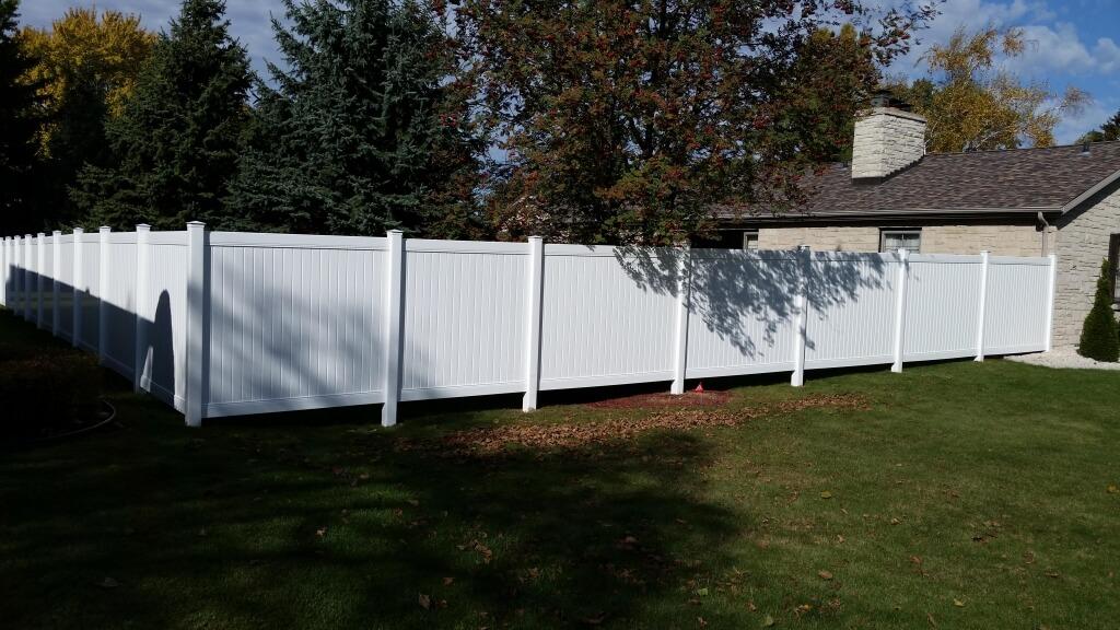 6 High Vinyl Privacy White Fence