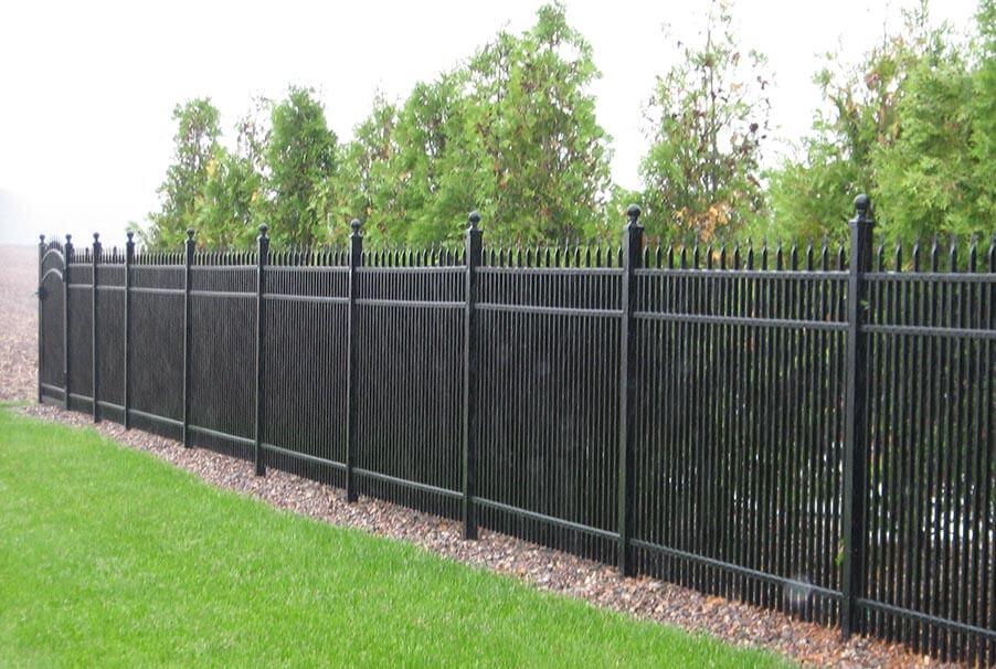 Aluminum Black Fence
