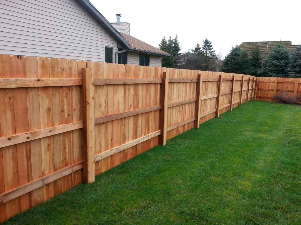 Solid Board with Post Covers Fence
